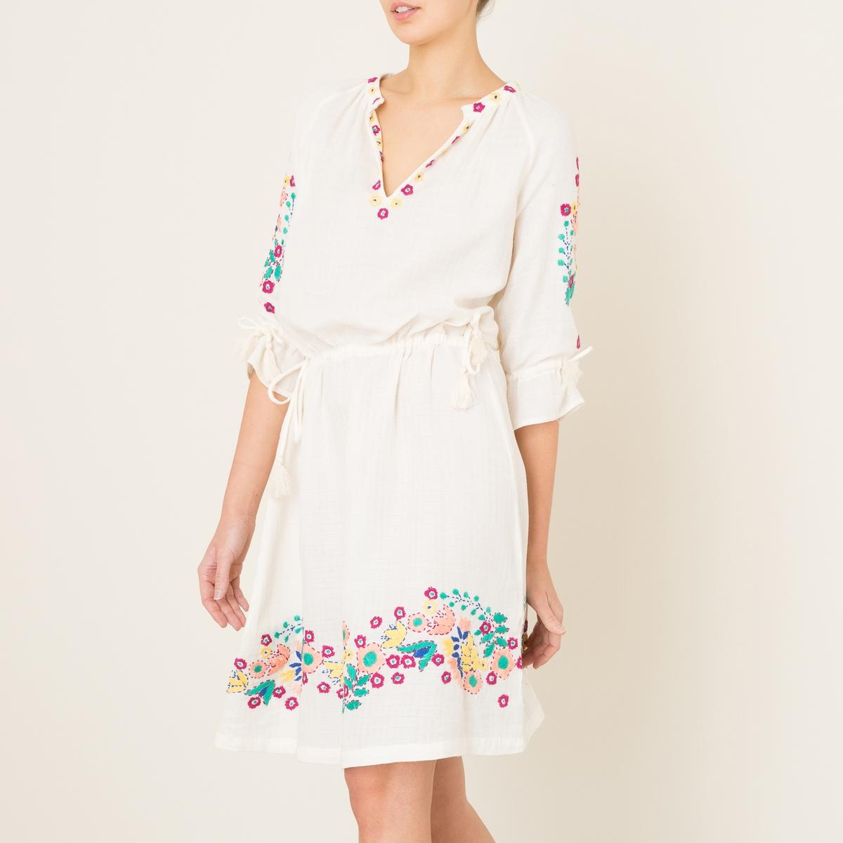 Платье  ALYSSAСостав и описание    Материал : 100% хлопок   Марка : ANTIK BATIK<br><br>Цвет: кремовый