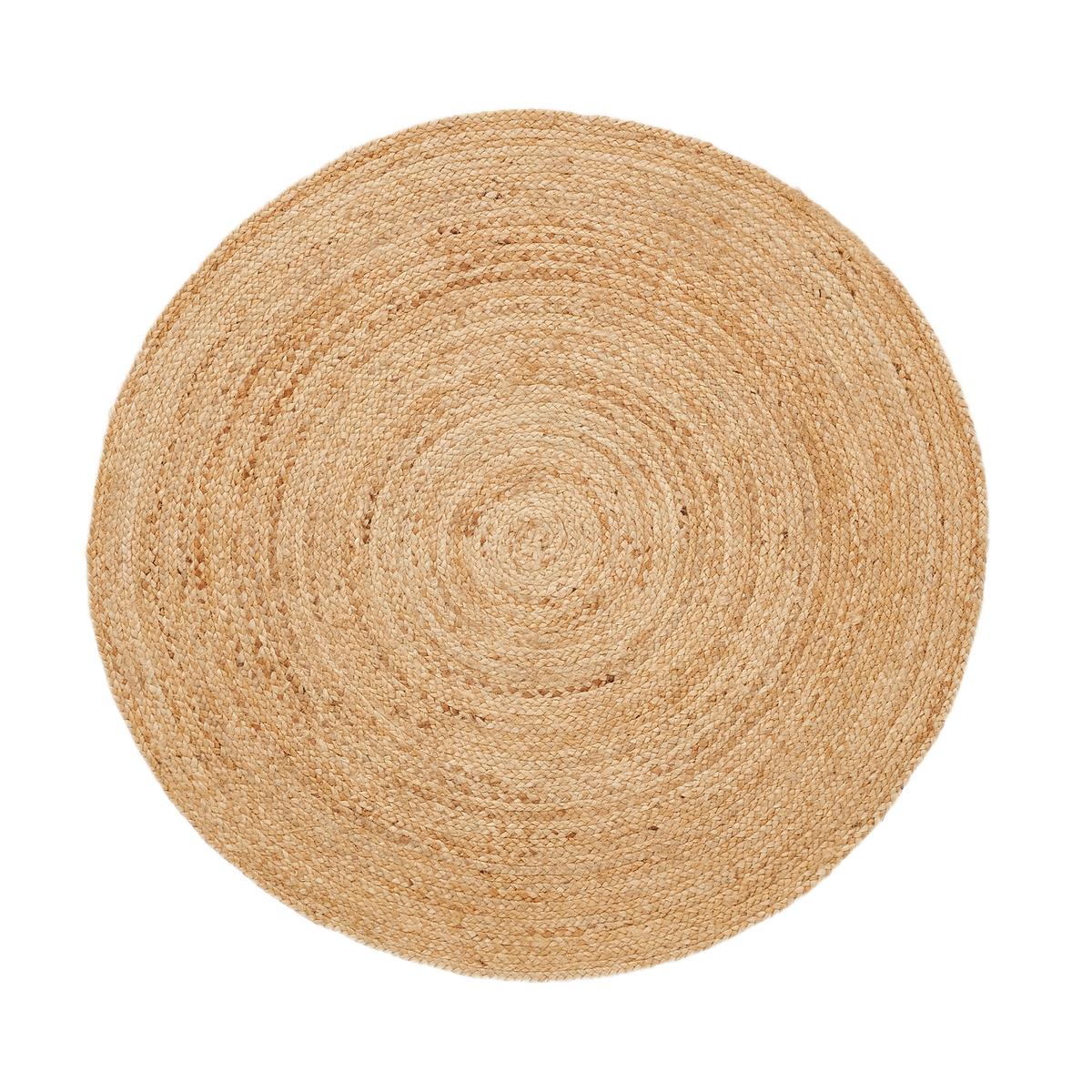 Ковер джутовый Aftas, диам. 100 см, цвет: натуральный, Aftas