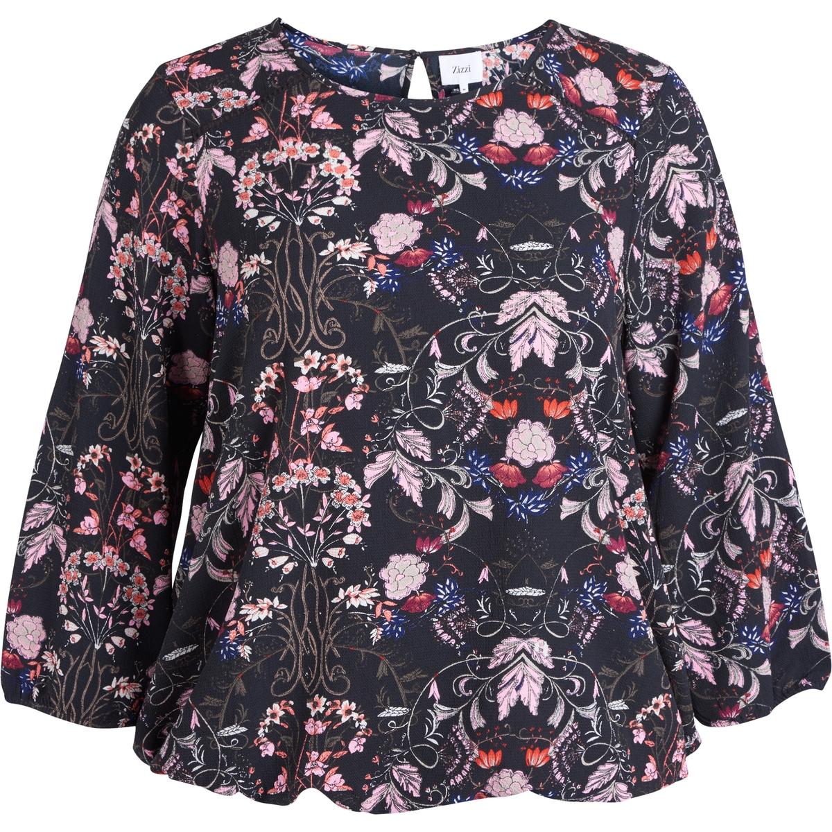 Блузка ZIZZIБлузка ZIZZI. Блузка с рисунком. Рукава 3/4. 98% полиэстера, 2% эластана.<br><br>Цвет: набивной рисунок,рисунок/белый