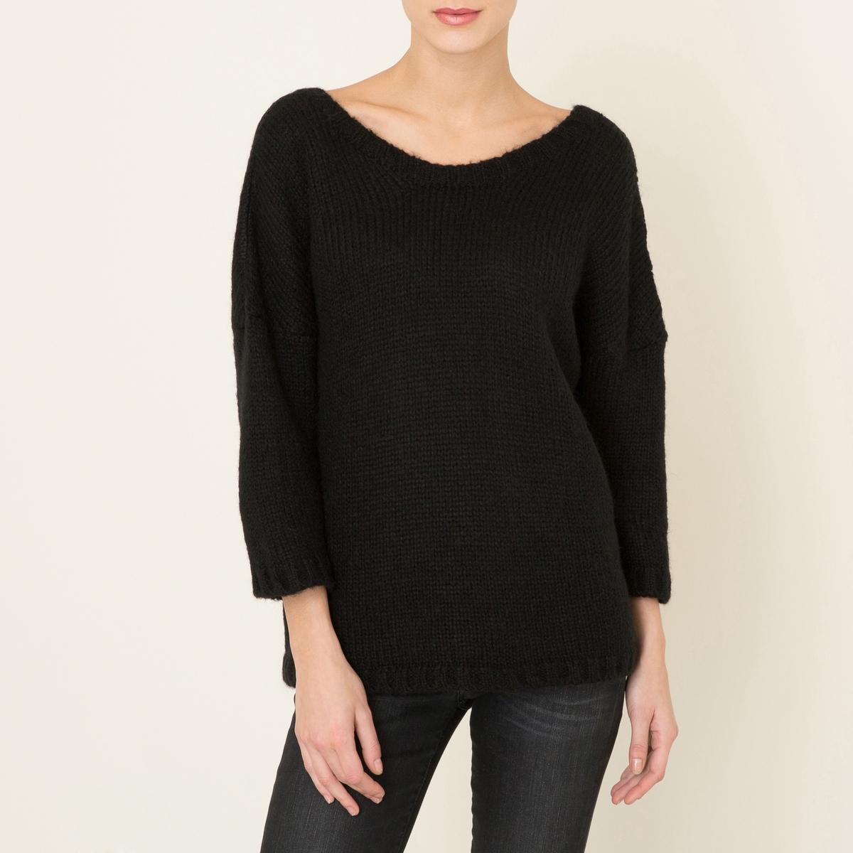 Пуловер IMPALAСостав и описание :Материал : 38% акрила, 32% полиамида, 30% мохераМарка : BA&amp;SH<br><br>Цвет: черный<br>Размер: L