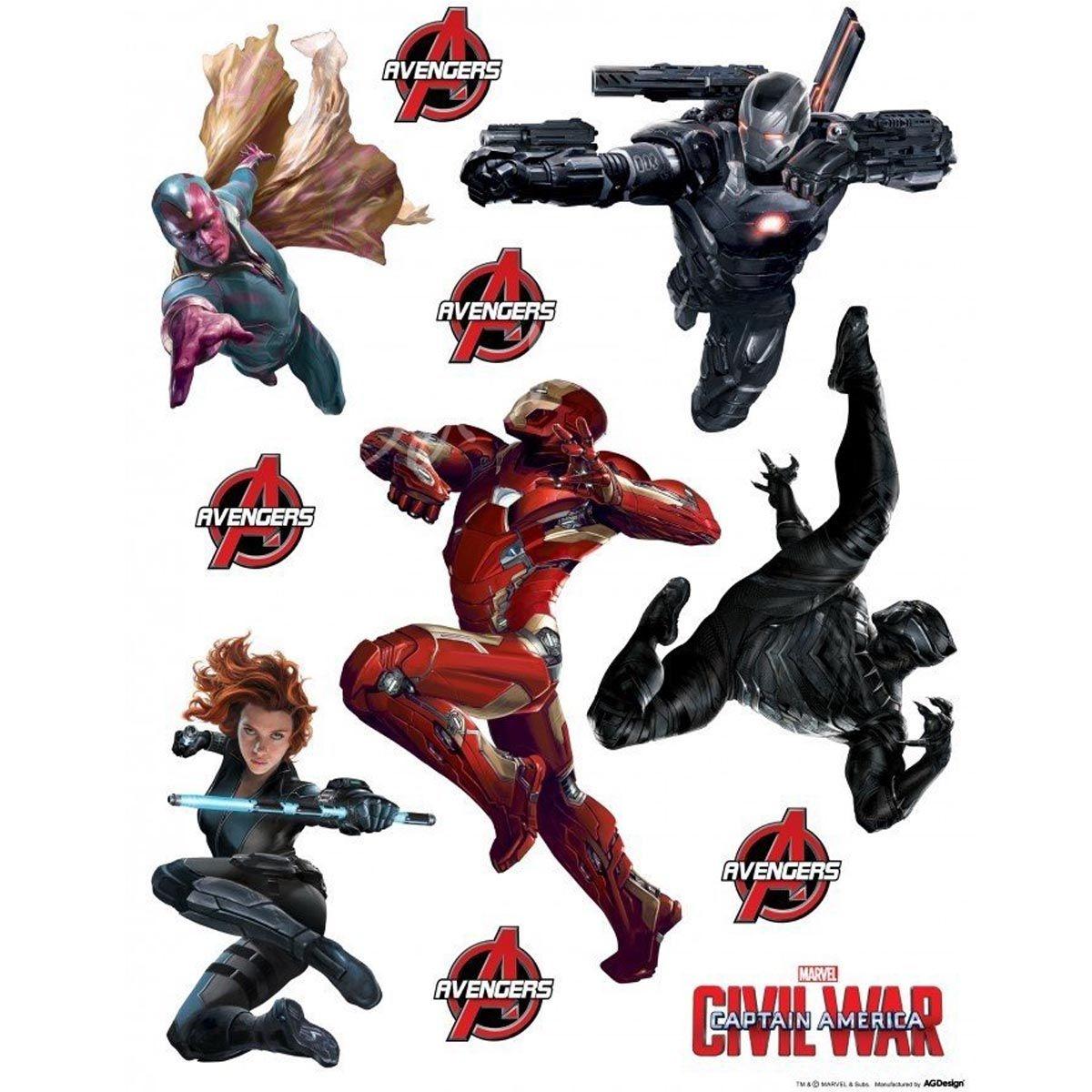 Stickers géant Civil War Captain America Marvel