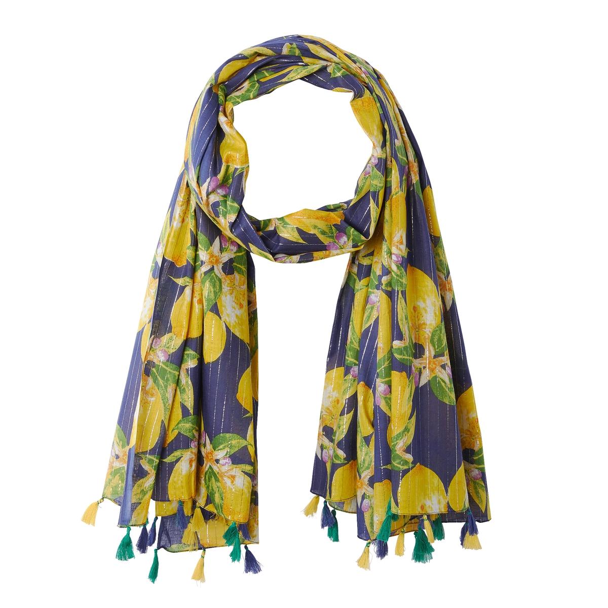Fulard con estampado de limones