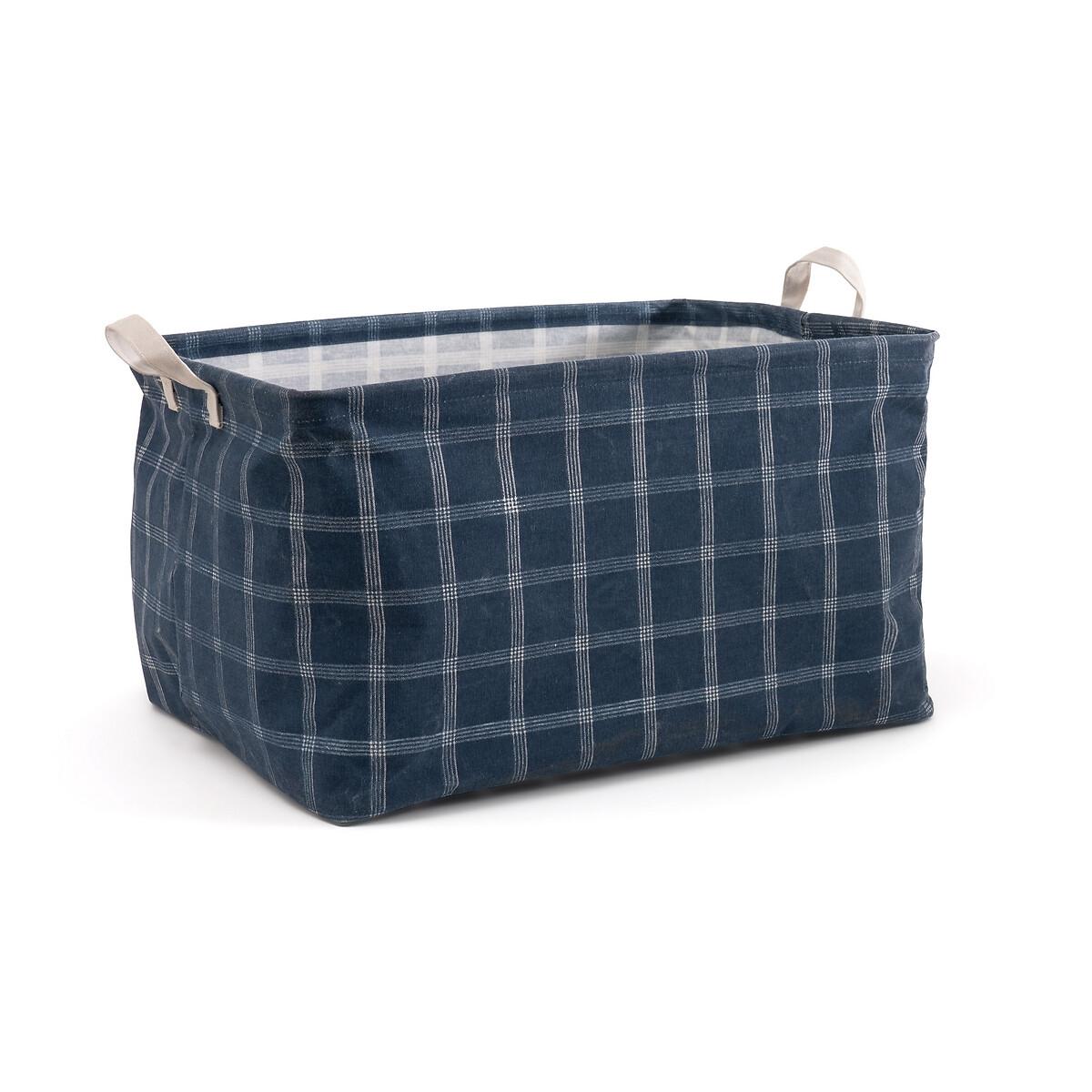 Фото - Чехол-корзина LaRedoute Для хранения Arthus единый размер синий корзина laredoute для белья из ткани louison единый размер серый
