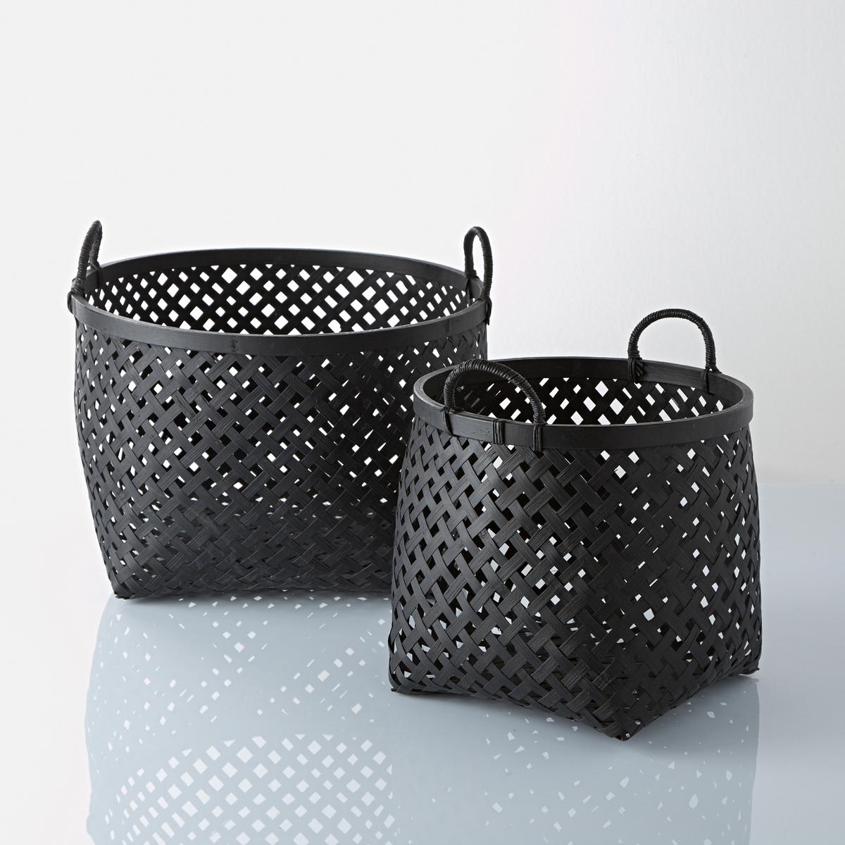 Комплект из 2 корзин Tigra La Redoute La Redoute единый размер черный комплект из 2 вешалок koishi la redoute la redoute единый размер черный