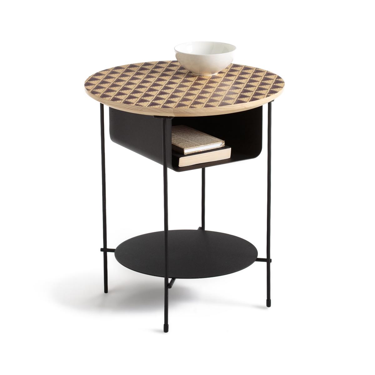 Прикроватный столик из металла и дерева, BANGOR