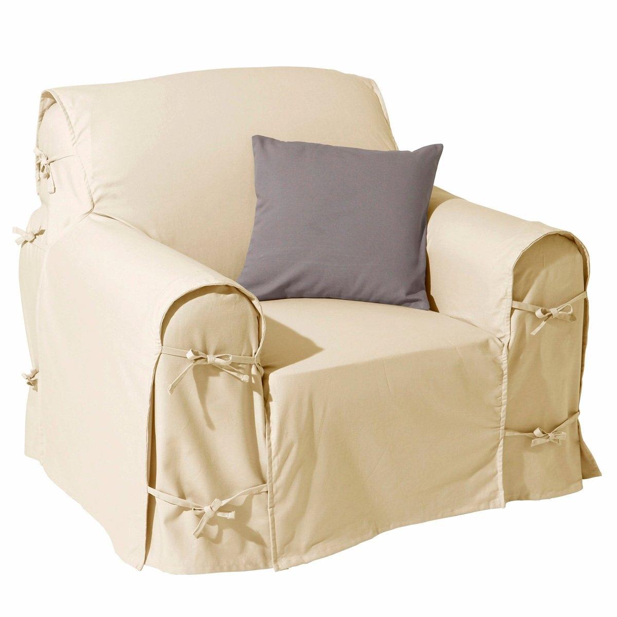Чехол для креслаПодарите новую жизнь креслу благодаря этому чехлу из 100% хлопка, оцените широкую гамму ультрасовременных цветов! Характеристики чехла для кресла:- Практичный чехол для кресла регулируется завязками. - Красивая плотная ткань из 100% хлопка (220 г/м?).- Обработка против пятен.- Простой уход: стирка при 40°, превосходная стойкость цвета.Размеры чехла для кресла:- Общая высота: 102 см.- Максимальная ширина: 80 см.- Глубина сидения: 60 см.- Высота подлокотников: 66 см.Качество VALEUR S?RE. Производство осуществляется с учетом стандартов по защите окружающей среды и здоровья человека, что подтверждено сертификатом Oeko-tex®.<br><br>Цвет: антрацит,белый,медовый,облачно-серый,рубиново-красный,серо-коричневый каштан,сине-зеленый,синий индиго,сливовый,черный,экрю<br>Размер: единый размер