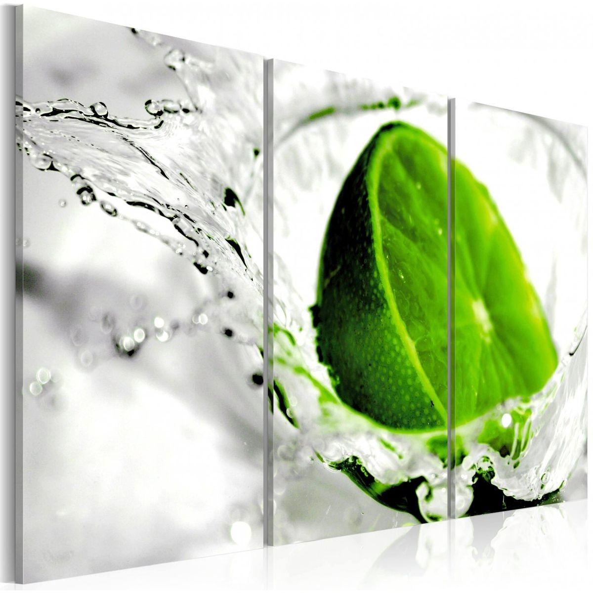 Tableau Triptyque - Lime rafraîchissante