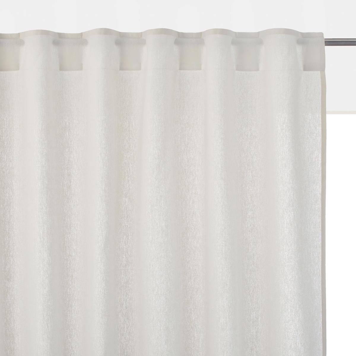 Штора из смесовой ткани из льна и хлопка со скрытыми клапанами TAÏMA