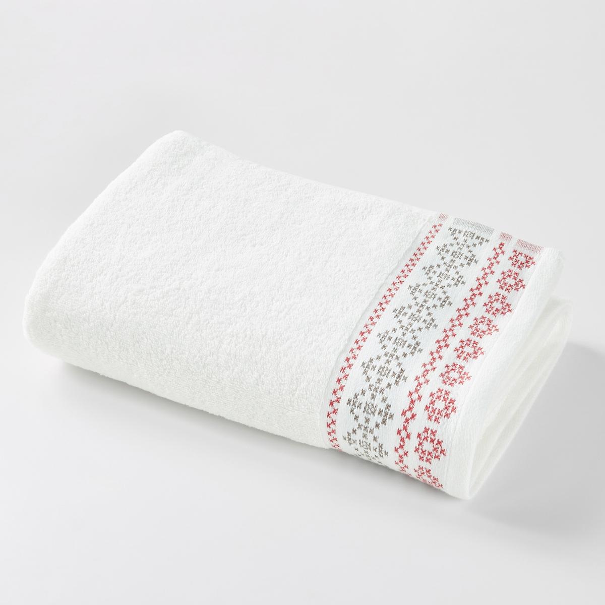 Полотенце банное большое CHALET, с традиционным жаккардовым рисунком по краю.Большое банное полотенце CHALET из хлопка, с традиционным жаккардовым рисунком по краю. Банное полотенце больших размеров из мягкого плотного хлопка.  Характеристики большого банного полотенца:Материал: махровая ткань, 100% хлопок, 430 г/м?.Уход : Машинная стирка при 60 °С.Отделка жаккардовым рисунком по краю.Размеры большого банного полотенца:100 x 150 см.<br><br>Цвет: белый<br>Размер: 100 x 150 cm