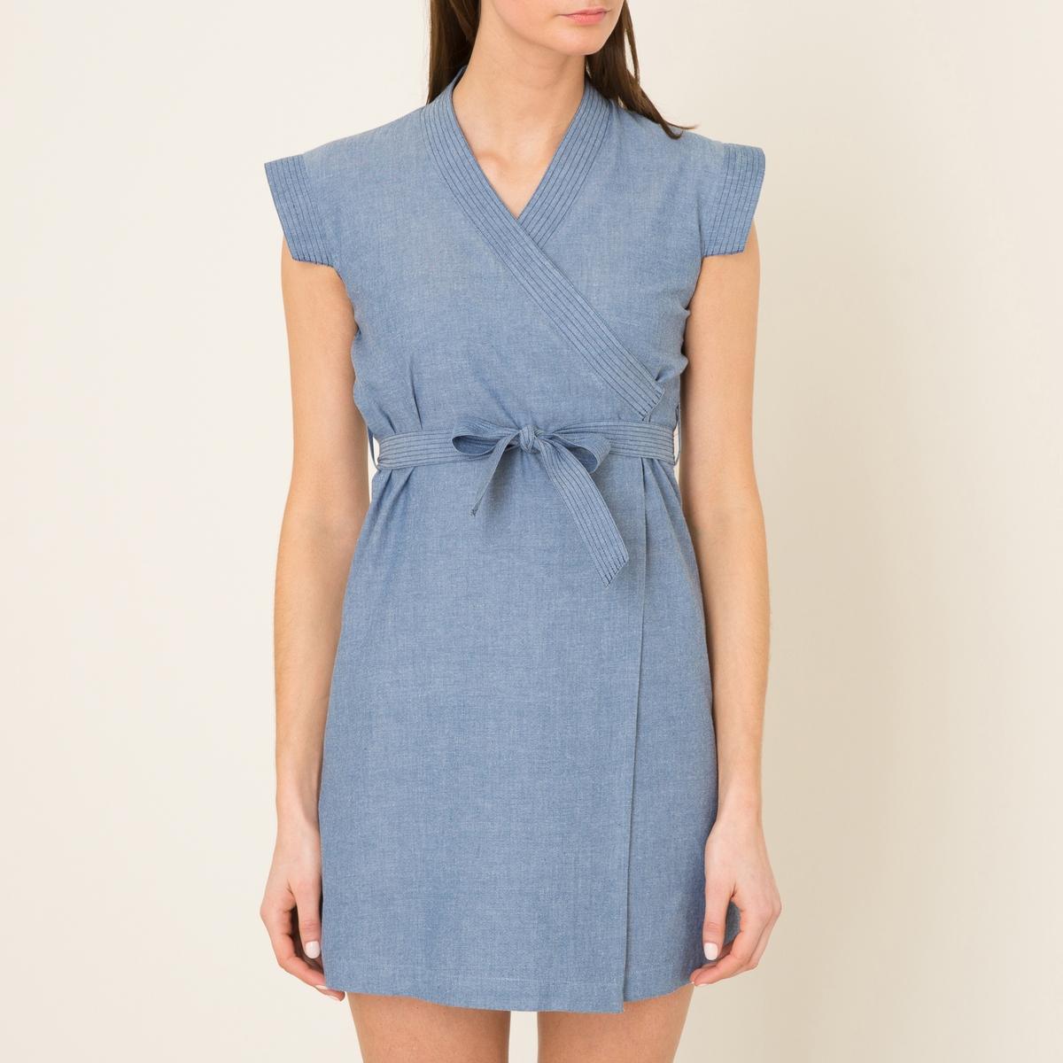 Платье VIETNAM BIS недорогое платье запахом для полных
