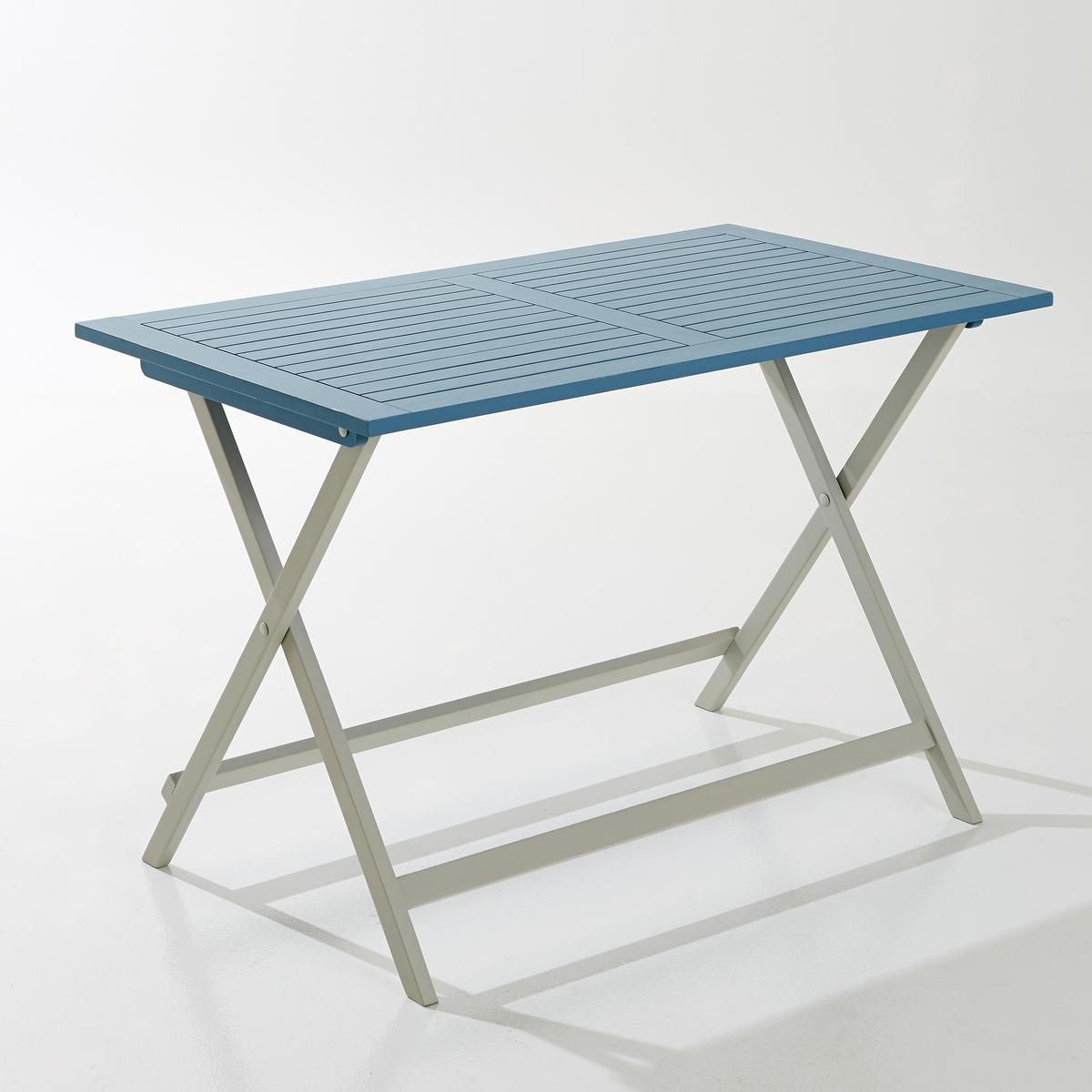 Стол садовый прямоугольный из акации FSC*Этот садовый стол из акации FSC* удобно разместится как на балконе или террасе, так и в саду, а его складная конструкция обеспечит легкость хранения.Описание садового стола из акации FSC*:рассчитан на 4 персоны.Описание садового стола из акации FSC*:Выполнен из акации FSC* с покрытием акриловой краской.Складная конструкция.Размеры садового стола из акации FSC*: Длина: 113 см.Высота: 74 см.Глубина: 65 см.Размеры и вес коробки:1 коробкаД. 121 x В. 9 x Г. 104 см, 15 кгДоставка:Данная модель стола требует самостоятельной сборки. Доставка осуществляется до квартиры!Внимание! Убедитесь в том, что посылку возможно доставить на дом, учитывая ее габариты.* Лейбл FSC присуждается Лесным попечительским советом (Forest   Stewardship Council) и является свидетельством соответствия стандартам ответственного управления лесами, легальности производства, возможности отслеживания происхождения древесины, сохранения биоразнообразия и прилегающих территорий.<br><br>Цвет: синий