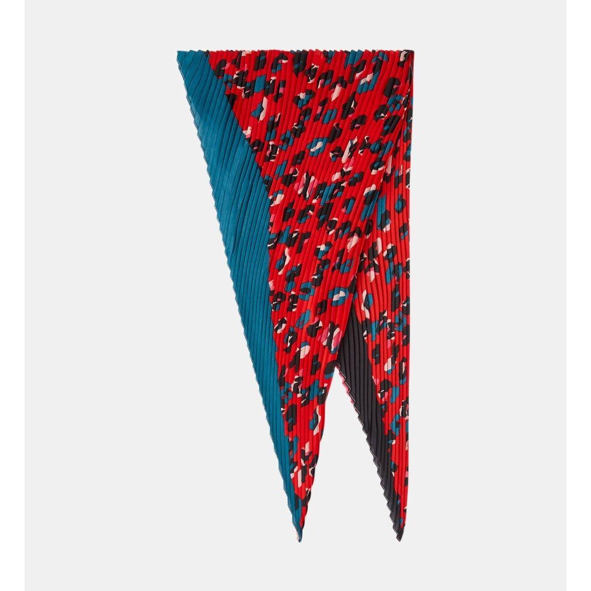 Foulard Triangle Guepard Plissé