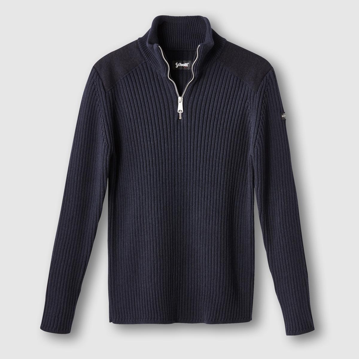 Пуловер plyank2Состав и описаниеМатериал : 50% хлопка, 50% акрилаМарка : SCHOTT<br><br>Цвет: темно-синий