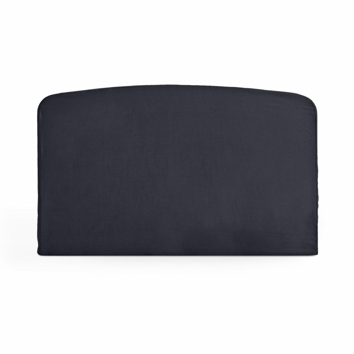 Чехол LaRedoute Для изголовья кровати округлой формы из хлопка Scenario 90 x 85 см черный чехол для изголовья кровати округлой формы