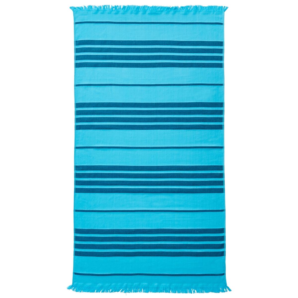 Полотенце пляжное PeppyОписание пляжного полотенца Peppy :Рисунок в полоску в тон, отделка бахромойХарактеристики пляжного полотенца Peppy :100% хлопок300 г/м?.Машинная стирка при 40 °С.Размеры пляжного полотенца Peppy :90 x 140 см<br><br>Цвет: бирюзовый,желтый