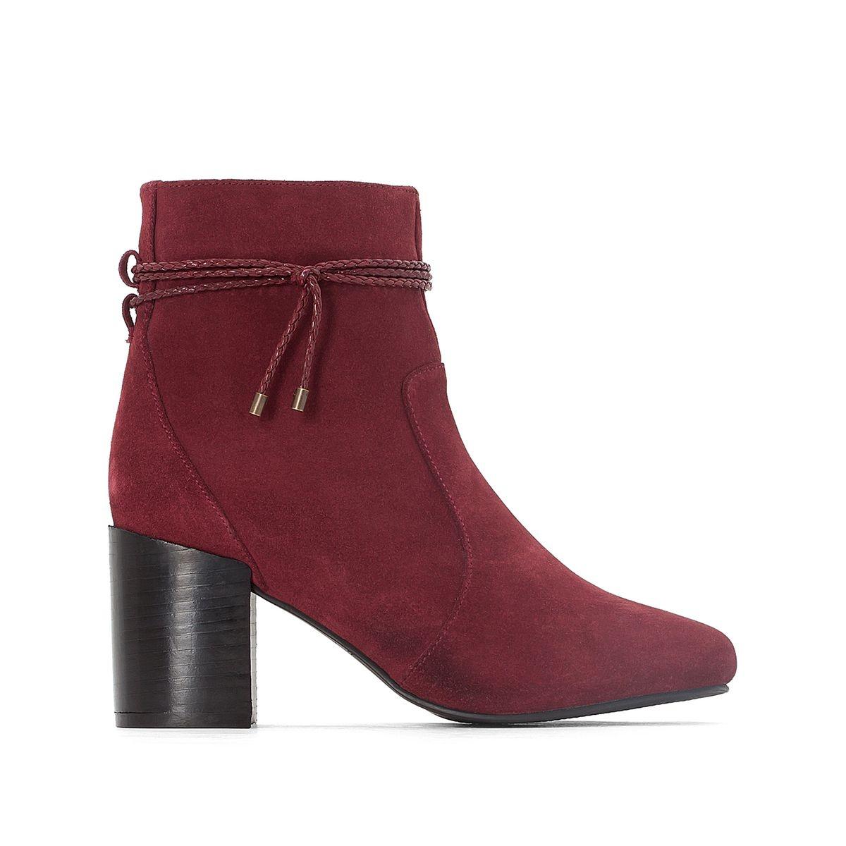 Boots cuir liens cheville