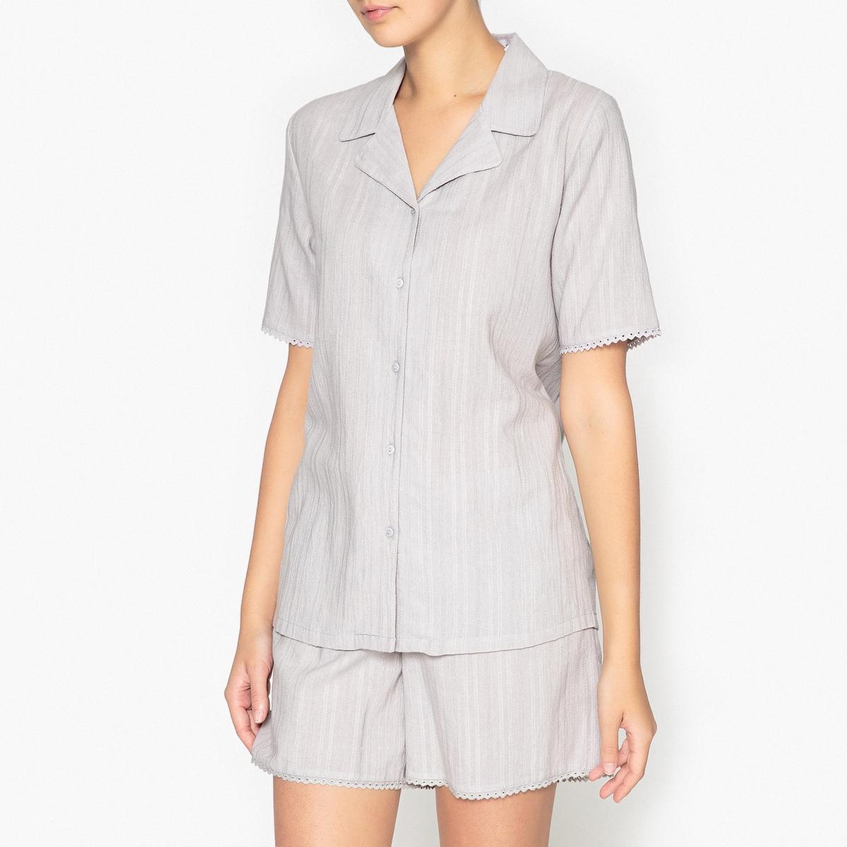 Пижама с шортами и рубашкой