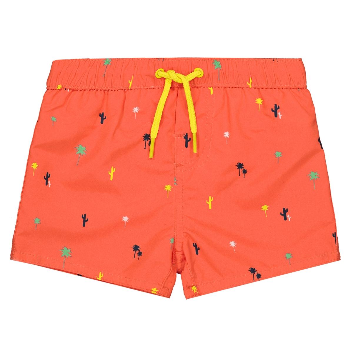 Шорты La Redoute Пляжные с рисунком мес - года 3 мес. - 60 см оранжевый шорты с вышивкой 1 мес 3 года