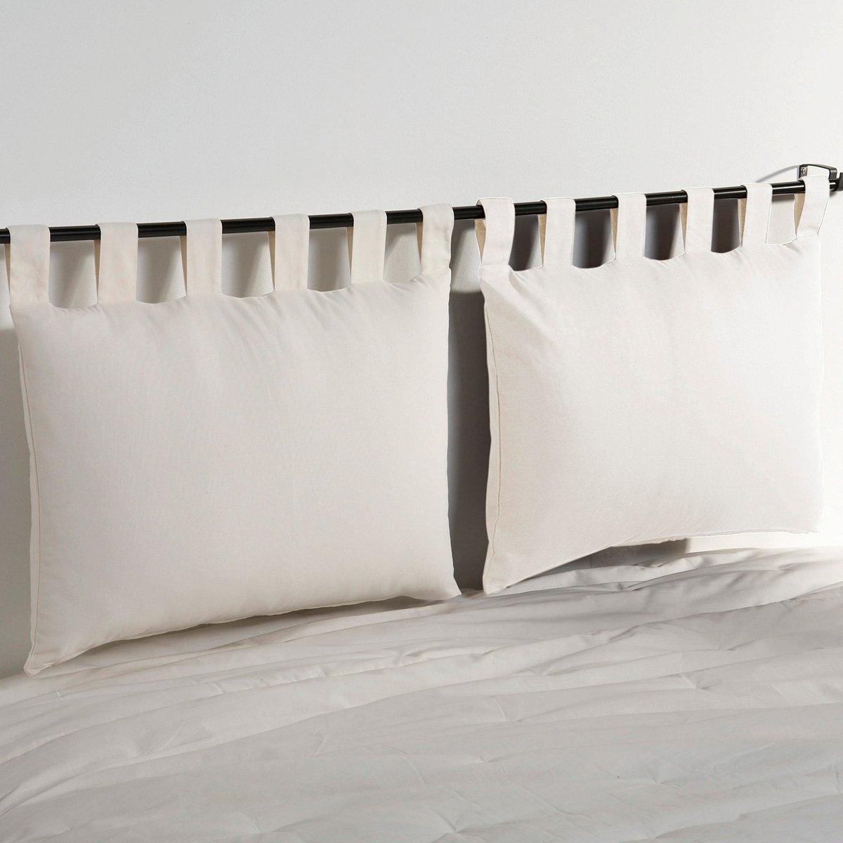Чехла La Redoute Для изголовья кровати из хлопка SCENARIO 50 x 70 см белый чехол из льна с помпонами для изголовья кровати sandor