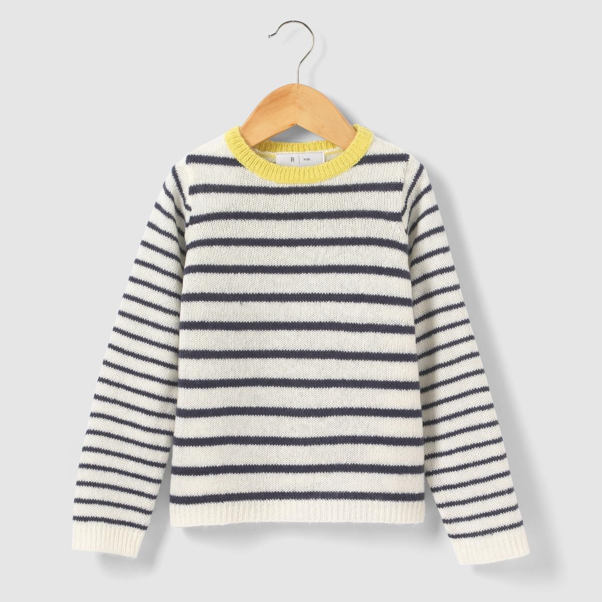Пуловер в полоску, 3-12 лет