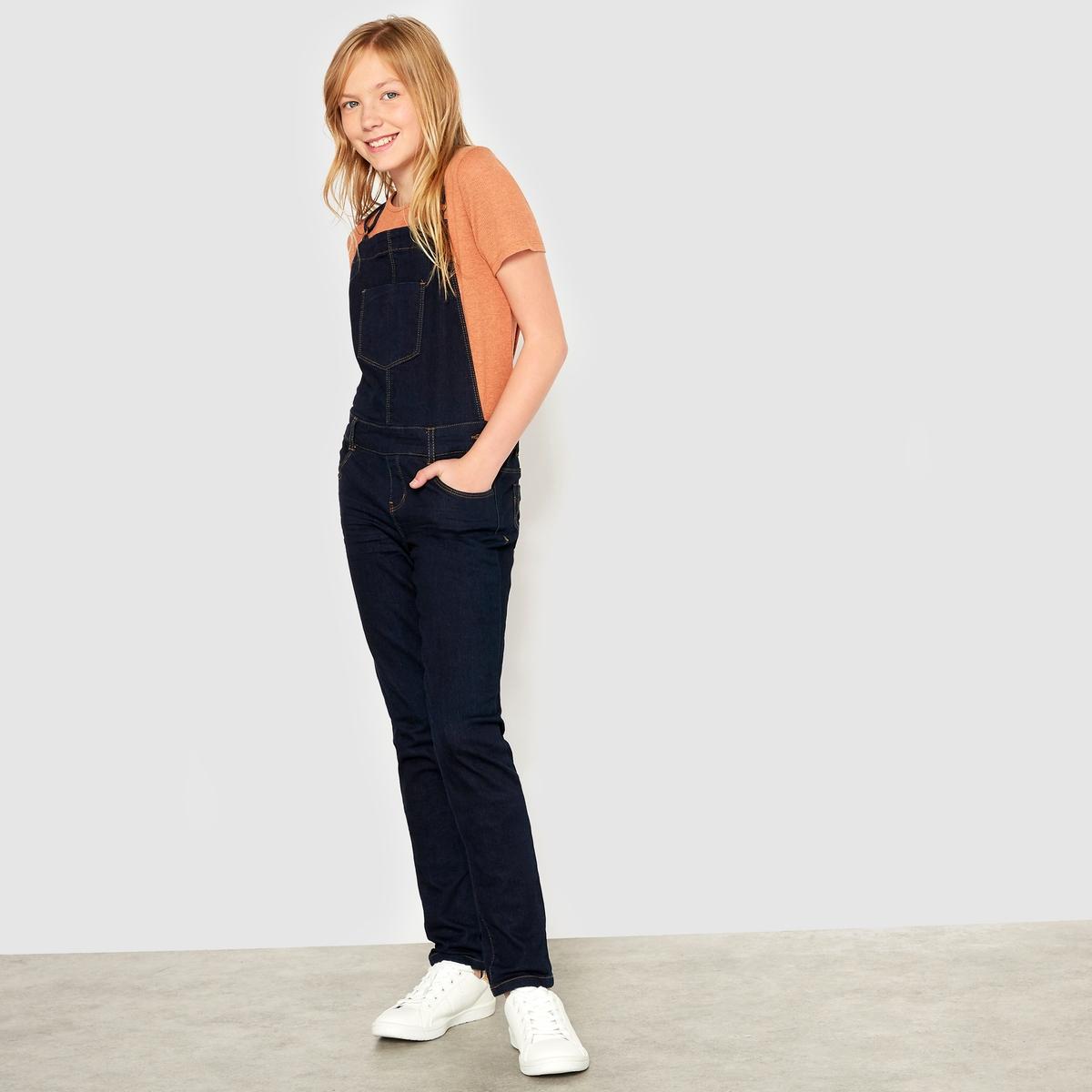 Комбинезон джинсовый зауженного покроя, 10-16 лет