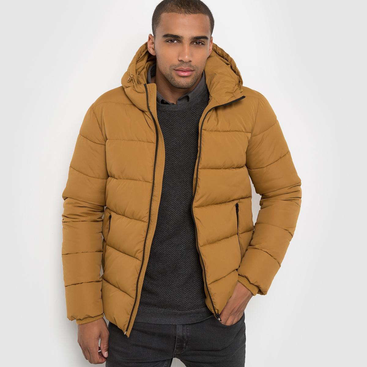 Куртка стёганая с капюшономСостав и описаниеМатериал: 100% полиэстера.Марка:      R ?dition<br><br>Цвет: темно-бежевый,черный<br>Размер: S