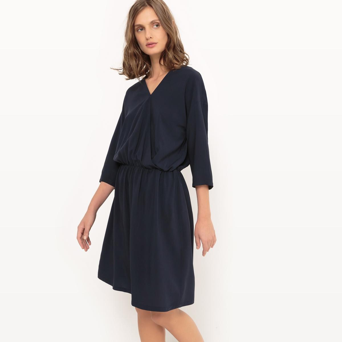 Фото Платье перекрестное с рукавами 3/4. Купить с доставкой