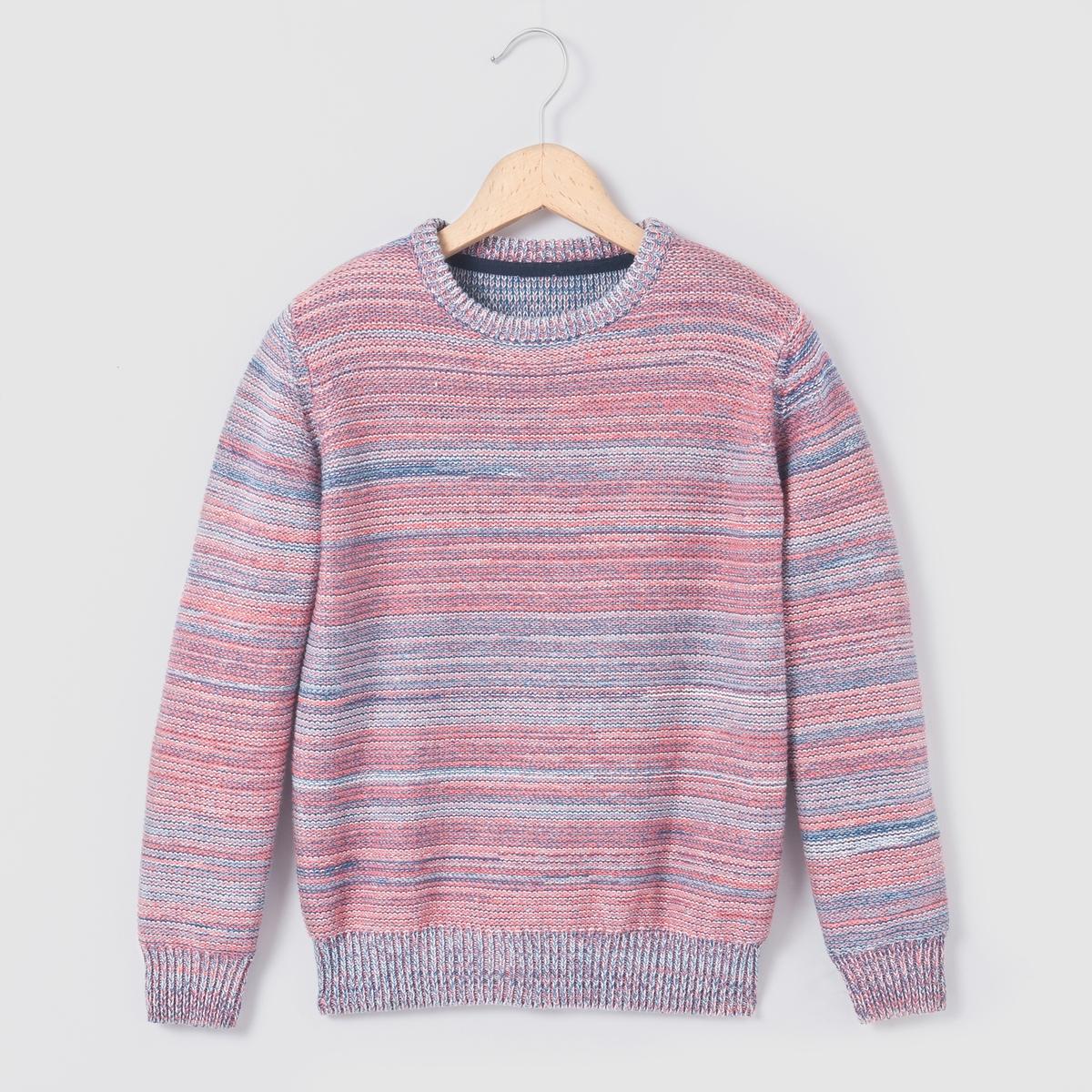 Пуловер из трикотажа мулине, 3-12 лет
