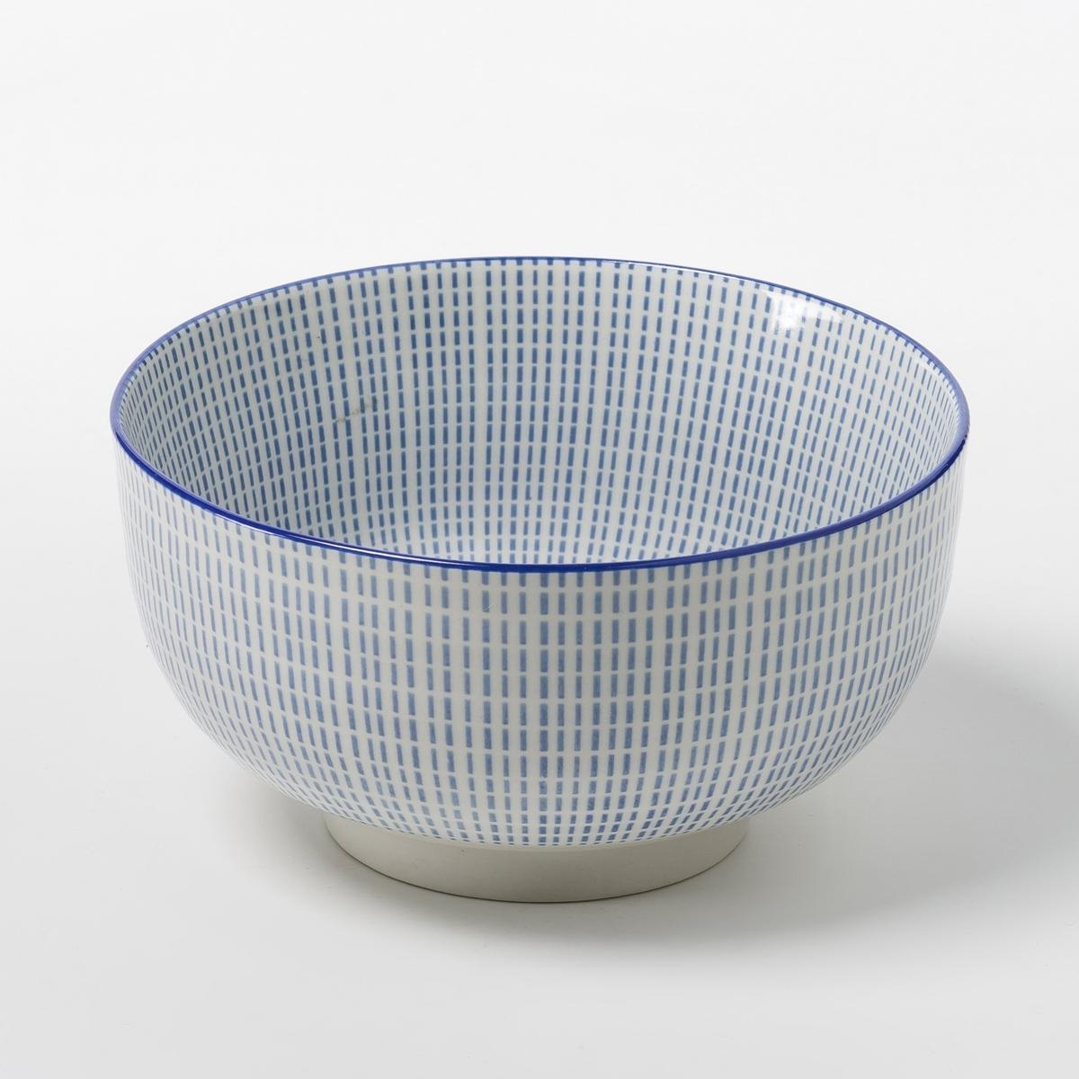 4 чаши фарфоровые Shigoni4 чаши Shigoni. Чаша в азиатском стиле с рифленой поверхностью. Глазурованный фарфор. Размеры: ?12,7. Подходит для посудомоечных машин и микроволновых печей. Выбор мелких и десертных тарелок на сайте.<br><br>Цвет: синий/белый,черный + белый<br>Размер: единый размер