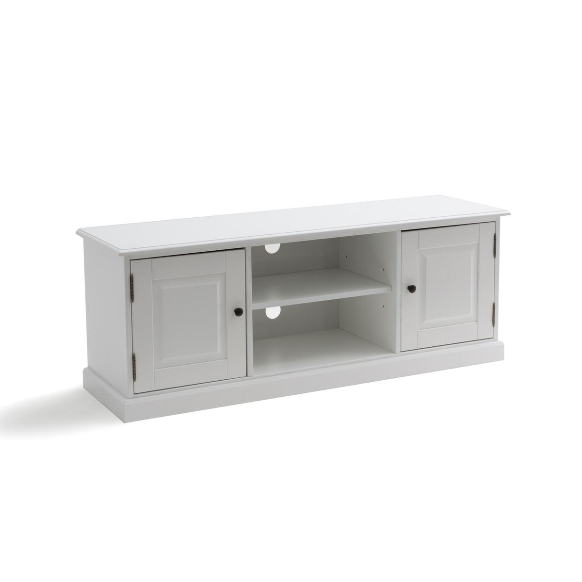 Этажерка La Redoute Для телевизора из массива сосны Authentic Style единый размер белый