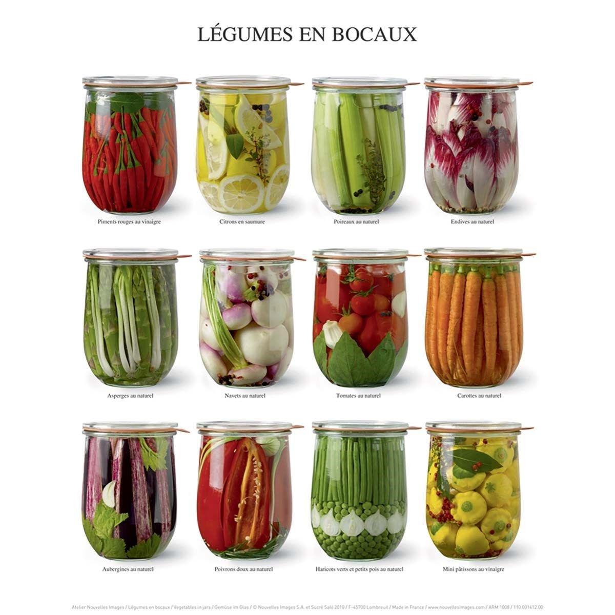 Affiche Légumes en bocaux
