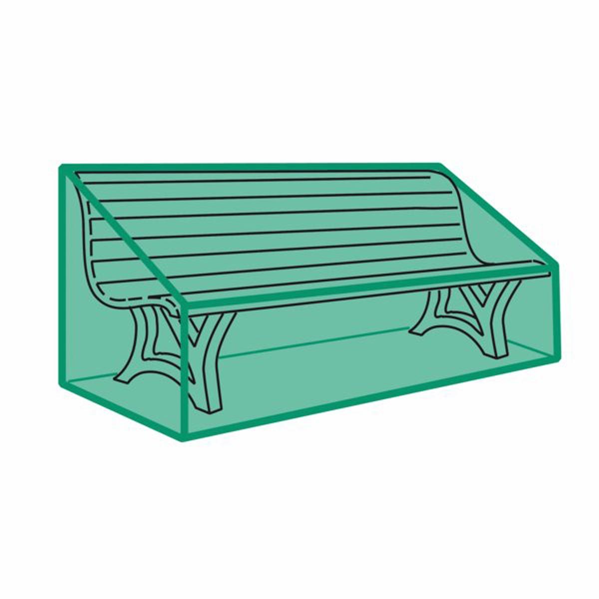 Чехол для садовой скамьиЗащитите вашу скамью от пыли и непогоды с помощью этого очень прочного чехла. Отличается практичностью и легкостью складывания (специально разработанная система складывания чехла).      Качество VALEUR S?RE, герметичный и стойкий к гниению .       Характеристики чехла :- Выполнен из спаянного полиэтилена- Нержавеющие люверсы- Система быстрого складывания- Цвет зеленый полупрозрачныйРазмеры :Для садовой скамьи с максимальной длиной 2 м<br><br>Цвет: зеленый