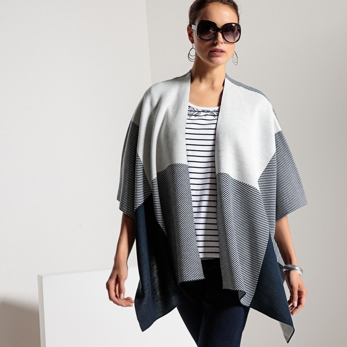 Кардиган с V-образным вырезом из тонкого трикотажа пуловер из плотного трикотажа с v образным вырезом