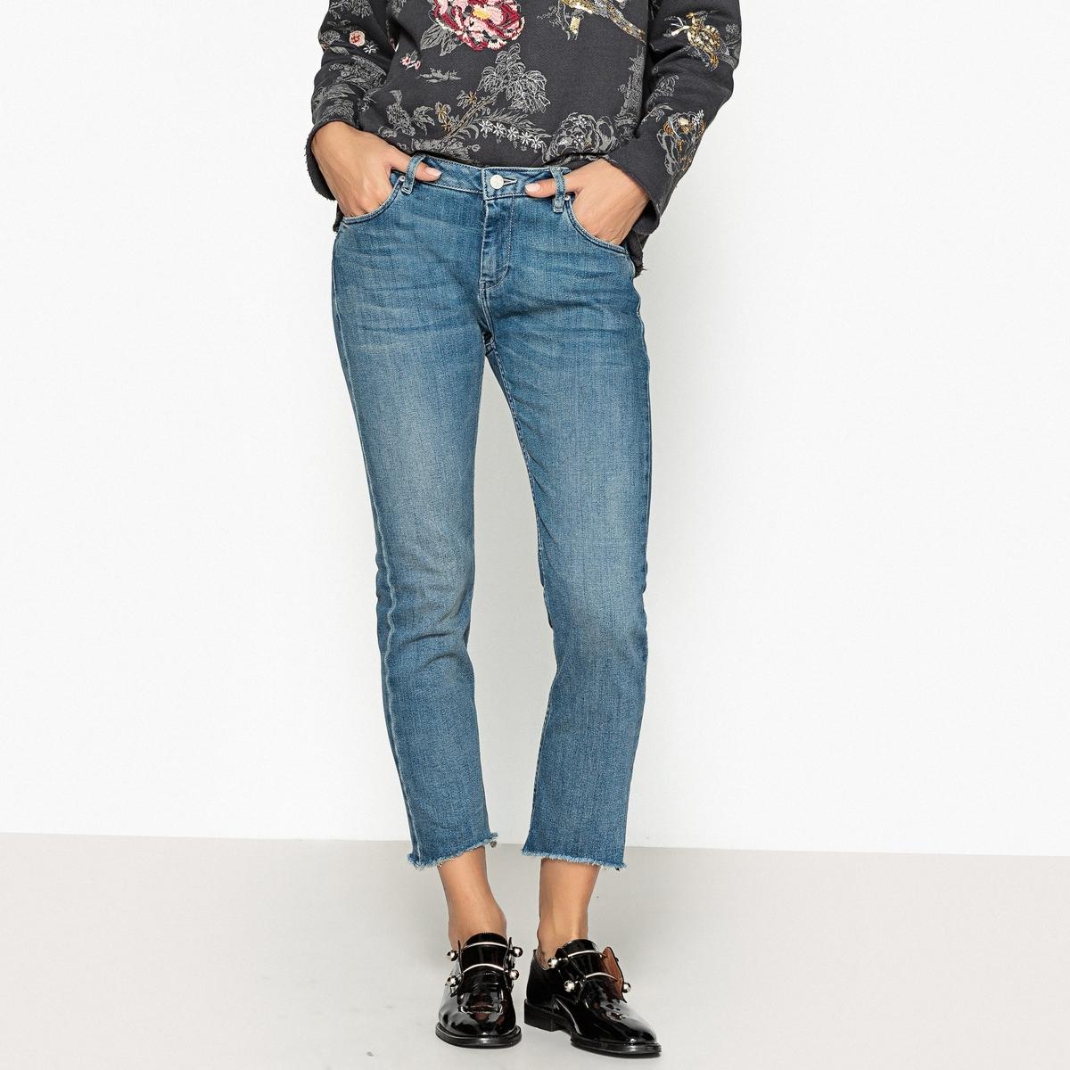 Джинсы бойфренд с рисунком сзади VINCE TAG, длина 7/8 джинсы бойфренд 3 14 лет