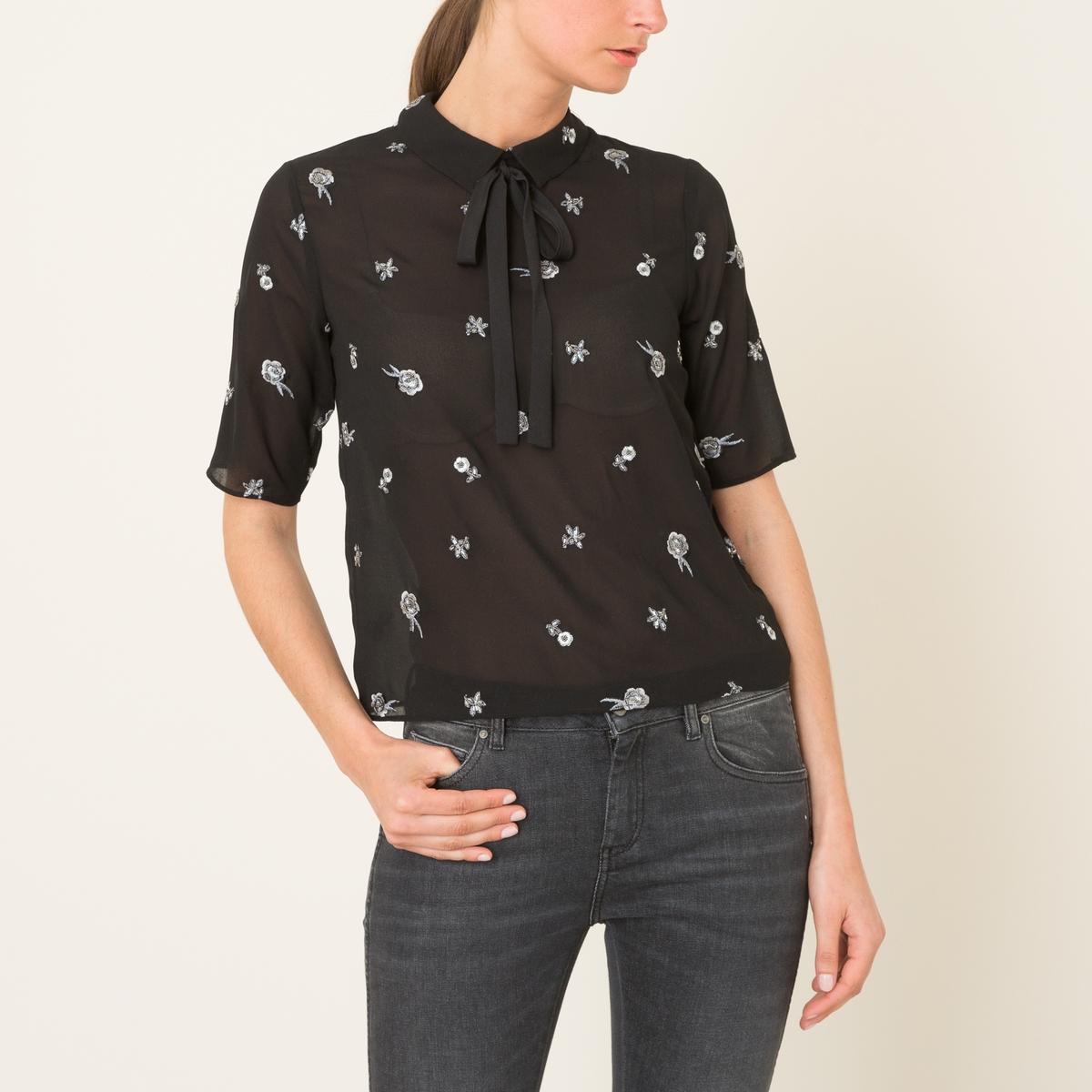 Блузка с вышивкой the kooples шорты для плавания