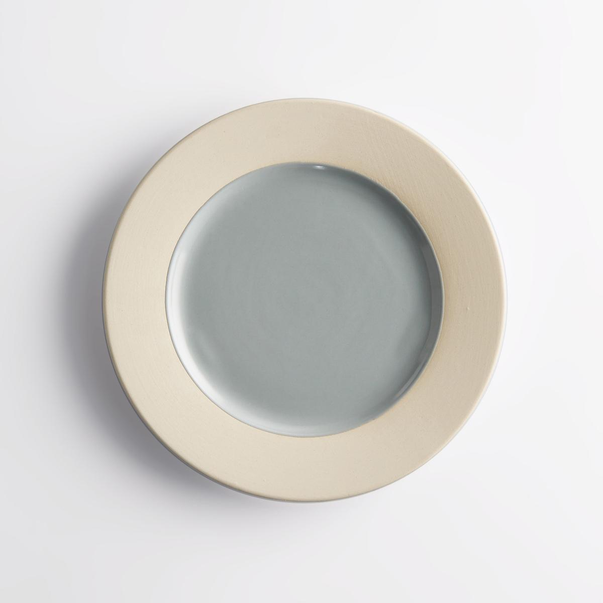 Комплект из 4 десертных тарелок из керамики WarotaХарактеристики 4 двухцветных десертных тарелок из керамики Warota : - Из керамики, покрытой глазурью   .- Края из керамики.- В комплекте 4 десертных тарелкиРазмеры 4 двухцветных десертных тарелок из керамики Warota :диаметр 20 см.Цвета 4 двухцветных десертных тарелок из керамики Warota :Керамика без глазури / розовый.Керамика без глазури / синий.Другие тарелки и предметы декора стола вы можете найти на сайте laredoute.ru<br><br>Цвет: розовая пудра,синий