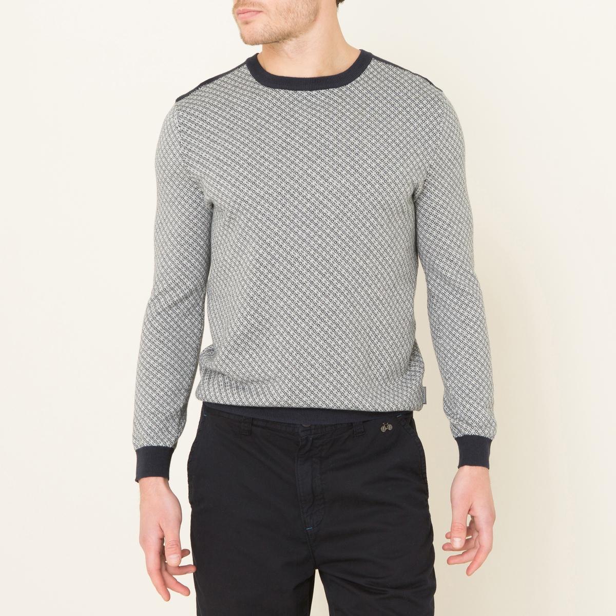Пуловер DALMIROСостав и описание    Материал : 100% хлопок    Марка : HARRIS WILSON<br><br>Цвет: серый меланж