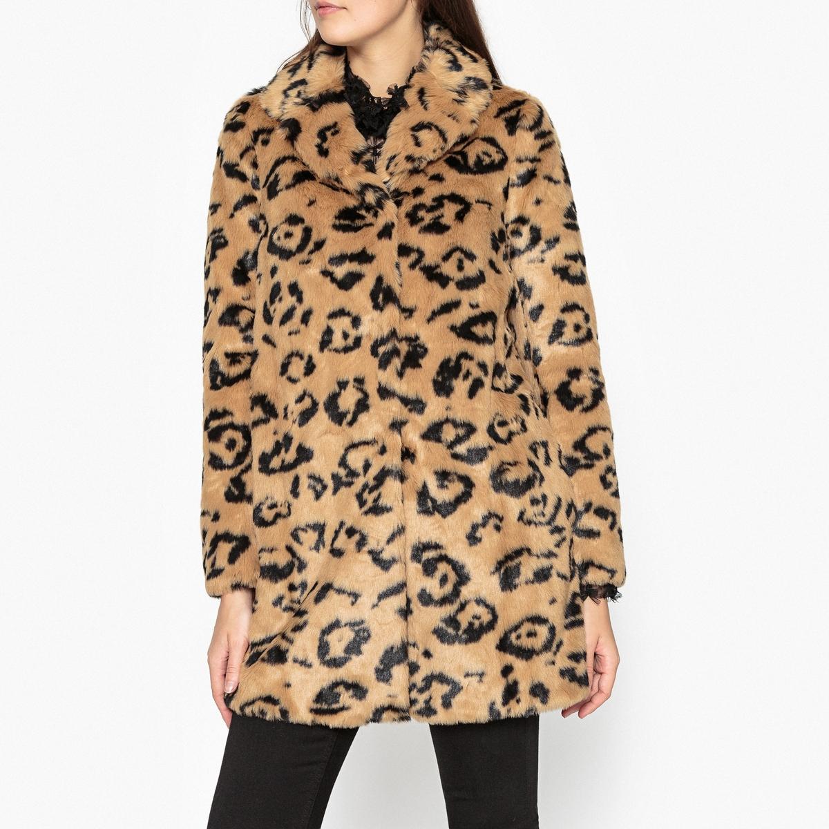 Пальто с леопардовым принтом OBECHIAN пальто с леопардовым принтом 30% шерсти