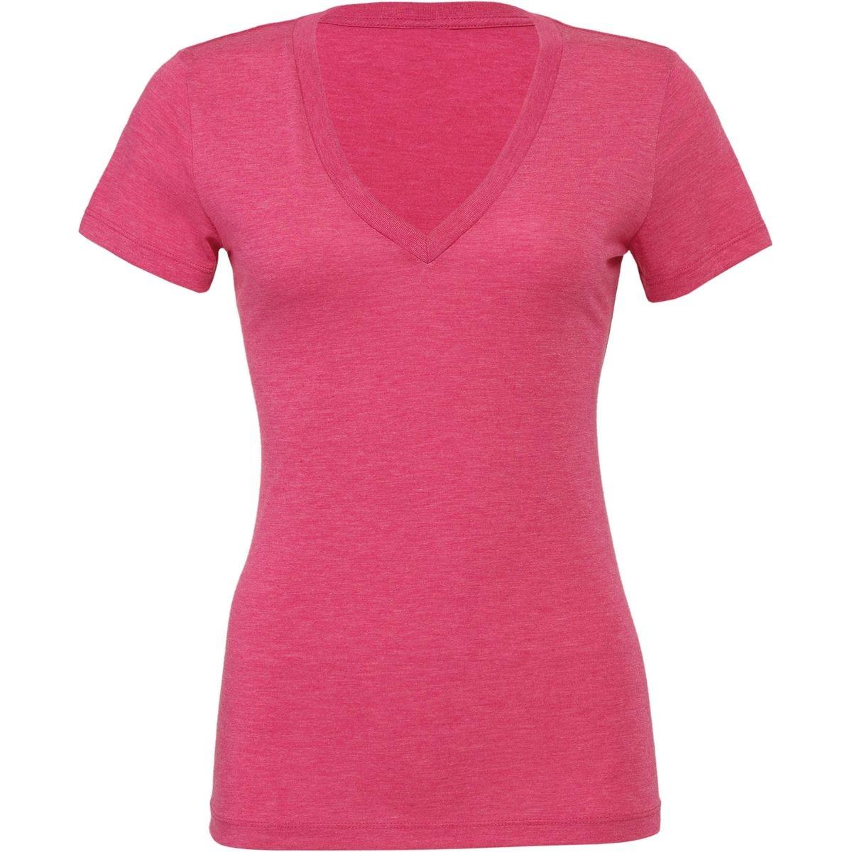 T-shirt femme Triblend col V Bella Canvas