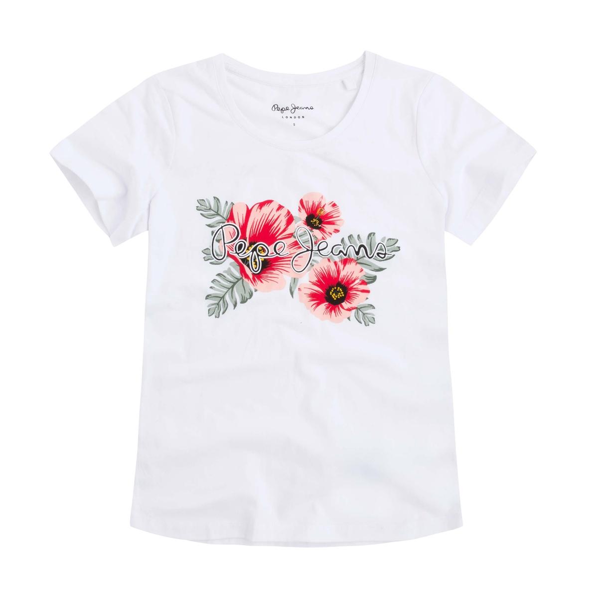 Imagen principal de producto de Camiseta con cuello redondo y estampado delante - Pepe Jeans