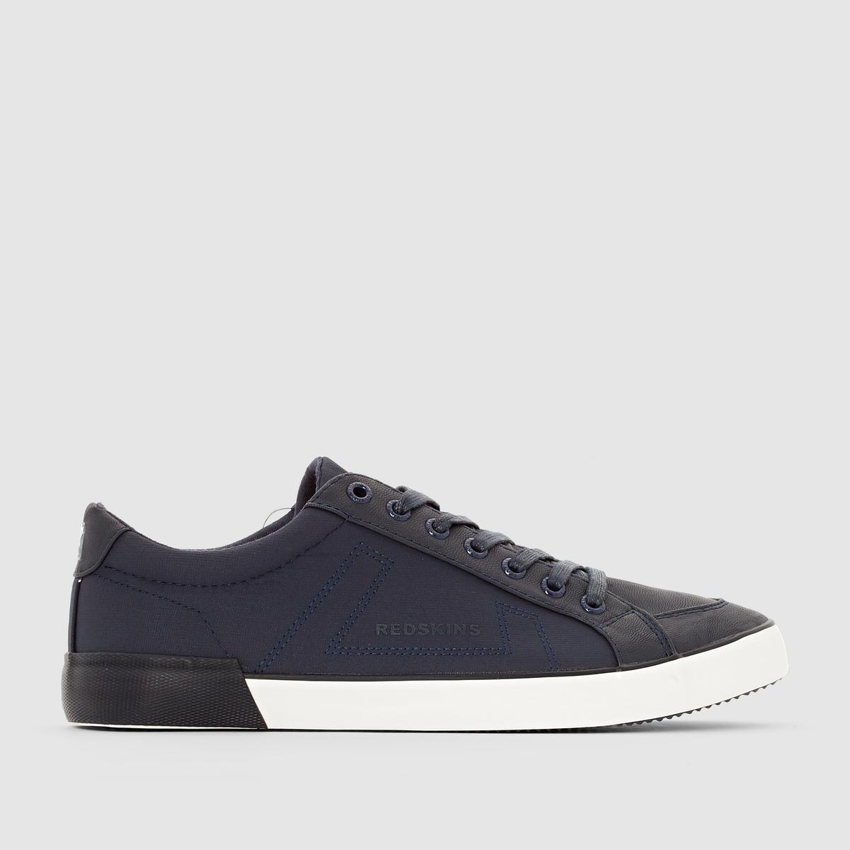 Кеды SABARДетали  •  Спортивный стиль •  Плоский каблук •  Высота каблука : 0 см •  Застежка : шнуровка •  Гладкая отделкаСостав и уход  •  Верх 100% синтетический материал •  Подкладка 100% текстиль •  Стелька 100% кожа •  Подошва 100% эластомер<br><br>Цвет: темно-синий<br>Размер: 43