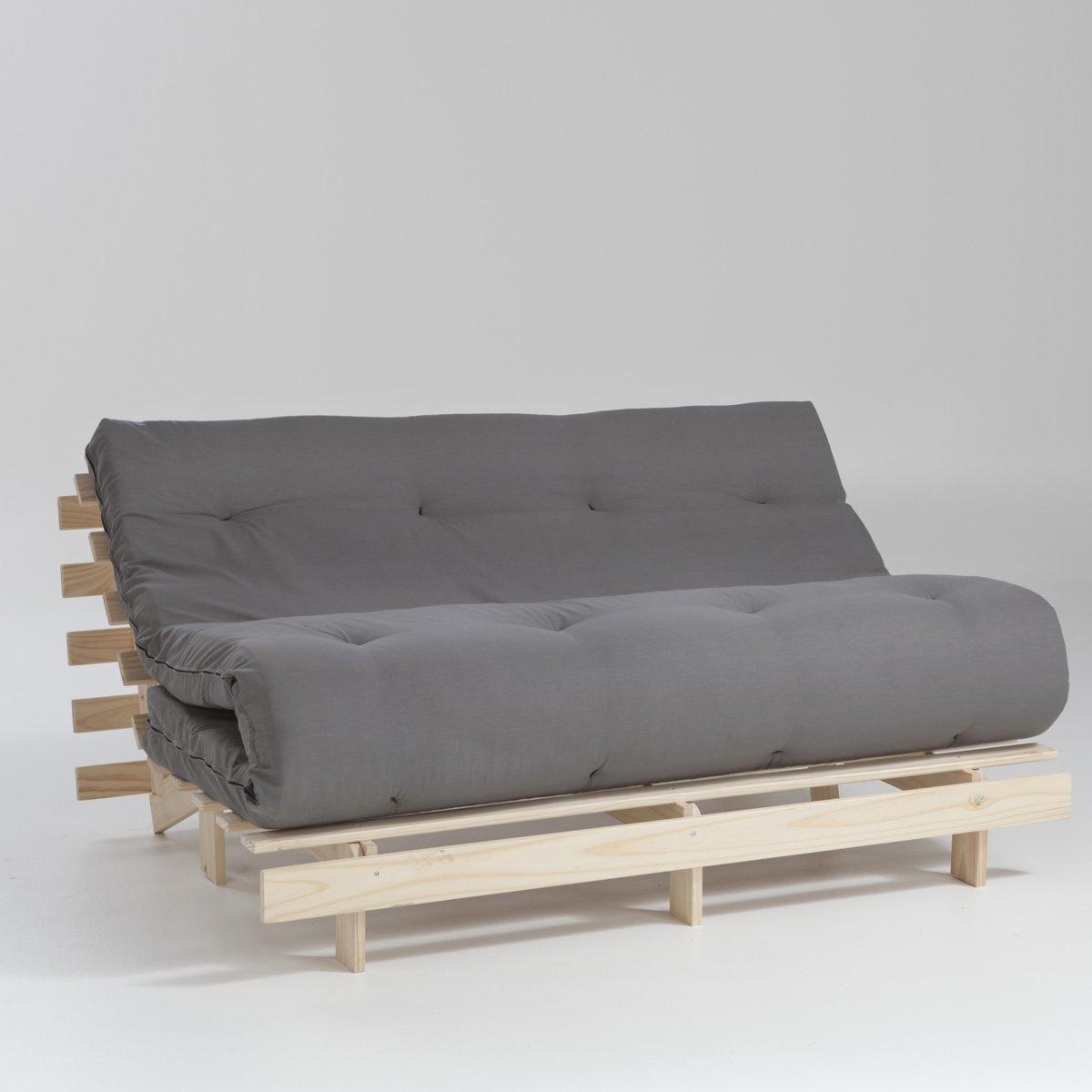 Матрас La Redoute Хлопчатобумажный с покрытием из латекса шерсти и льна для скамейки THA 160 x 200 см серый стоимость