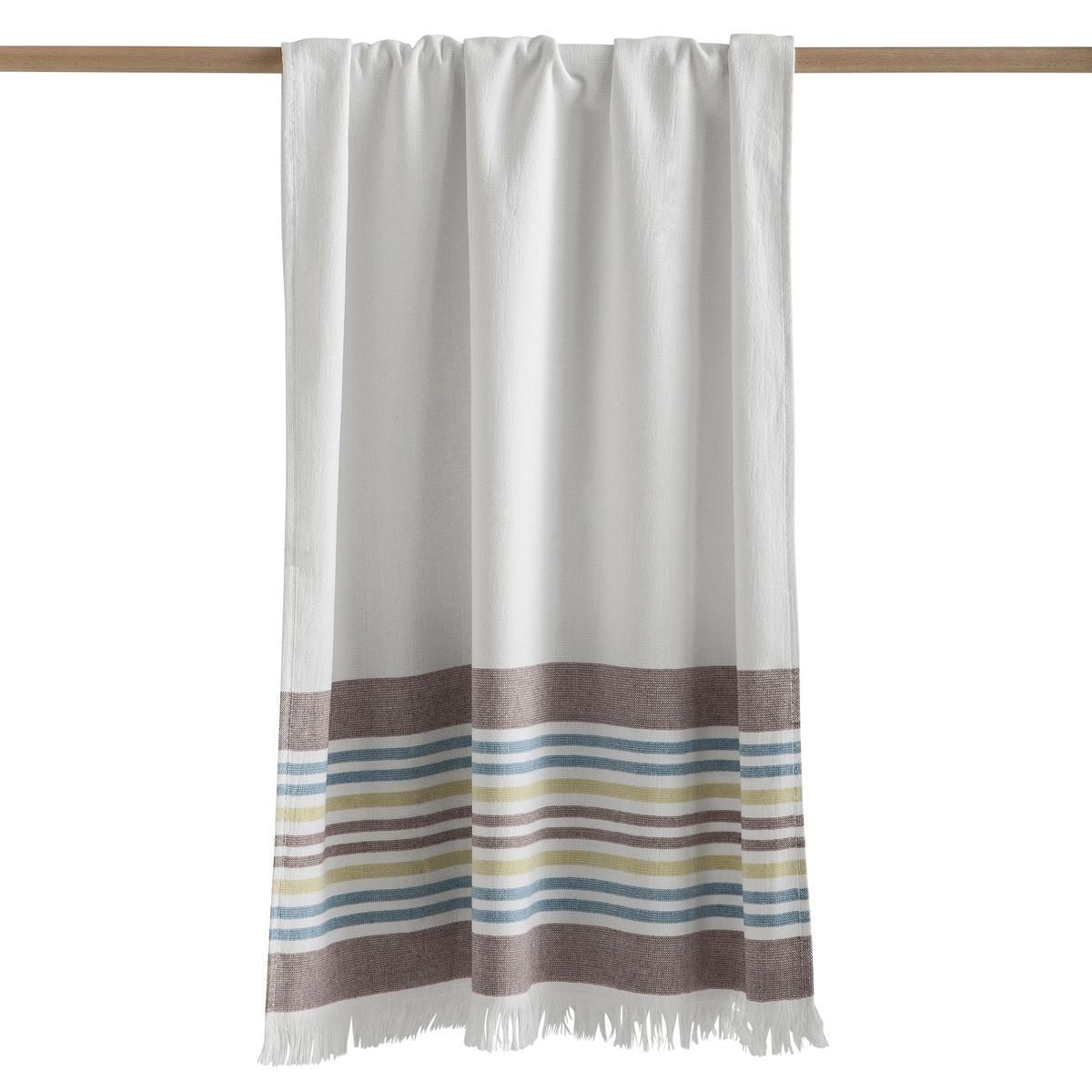 Полотенце большое Fouta из двойной махровой ткани от CYPRUSХарактеристики полотенца Cyprus :   Белое в полоску100% хлопок 360 г/м?Махровое с изнаночной стороныОтделка бахромой.Машинная стирка при 40 °CРазмеры полотенца Cyprus : 100 x 150 смВсю коллекцию Cyprus Вы найдете на laredoute.ru<br><br>Цвет: белый в полоску