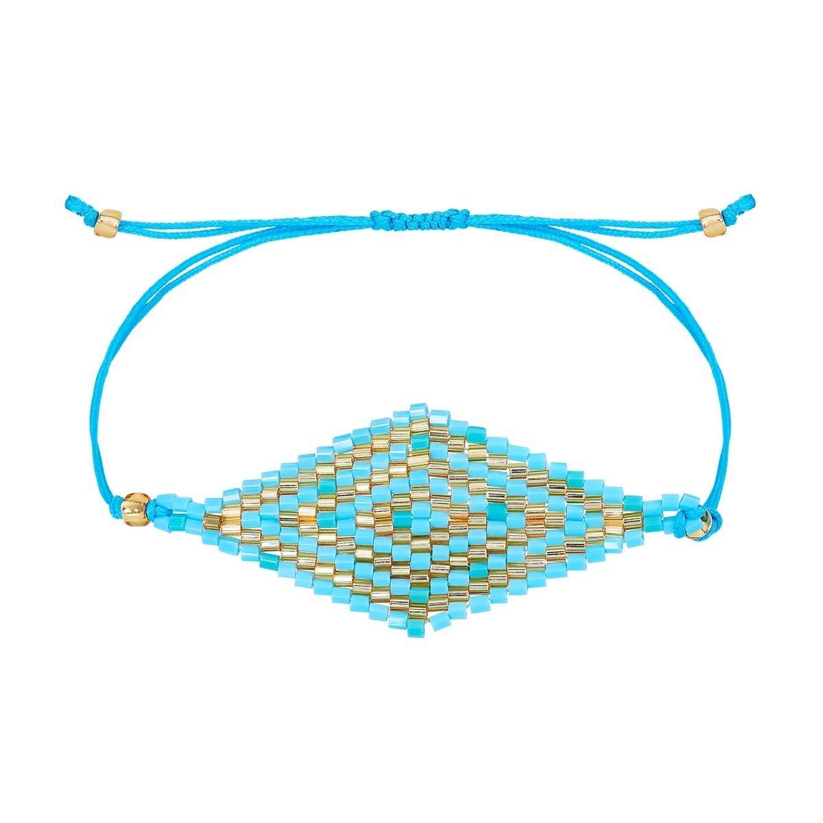 Bracelet Tissu Perles en verre du Japon
