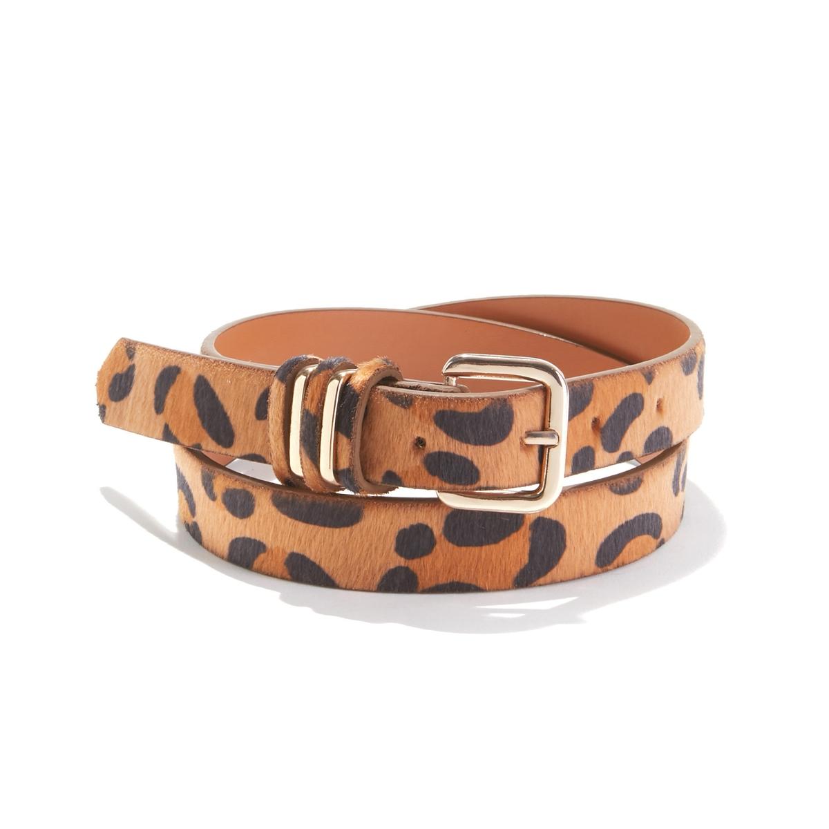 Cinturón efecto piel de leopardo