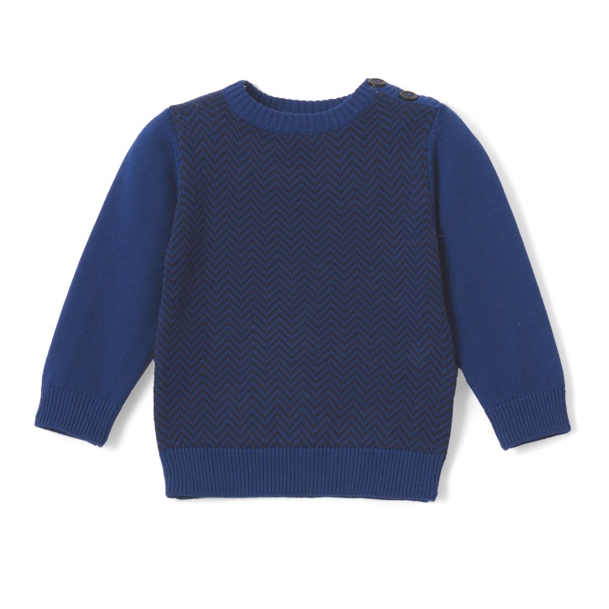 Пуловер с рисунком в ёлочку с длинными рукавами, 1 мес.- 3 лет футболка с длинными рукавами 1 мес 3 лет