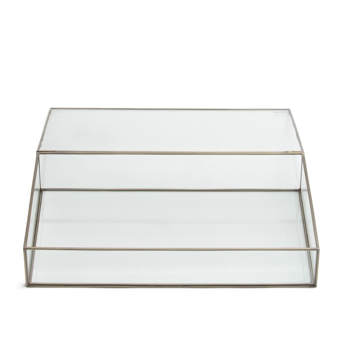 Коробка-витрина Ш.50xВ.9xГ.29 см, DigoriКоробка Digori. Коробка для хранения и демонстрации украшений, драгоценностей и других ценных предметов.Описание  :- Из стекла и металла с отделкой под латунь или оружейную сталь с эффектом старения.- Очень качественная отделка :- Ш.50 x В.9 x Г.29 см- Толщина стекла : 0,4 мм<br><br>Цвет: золотистый