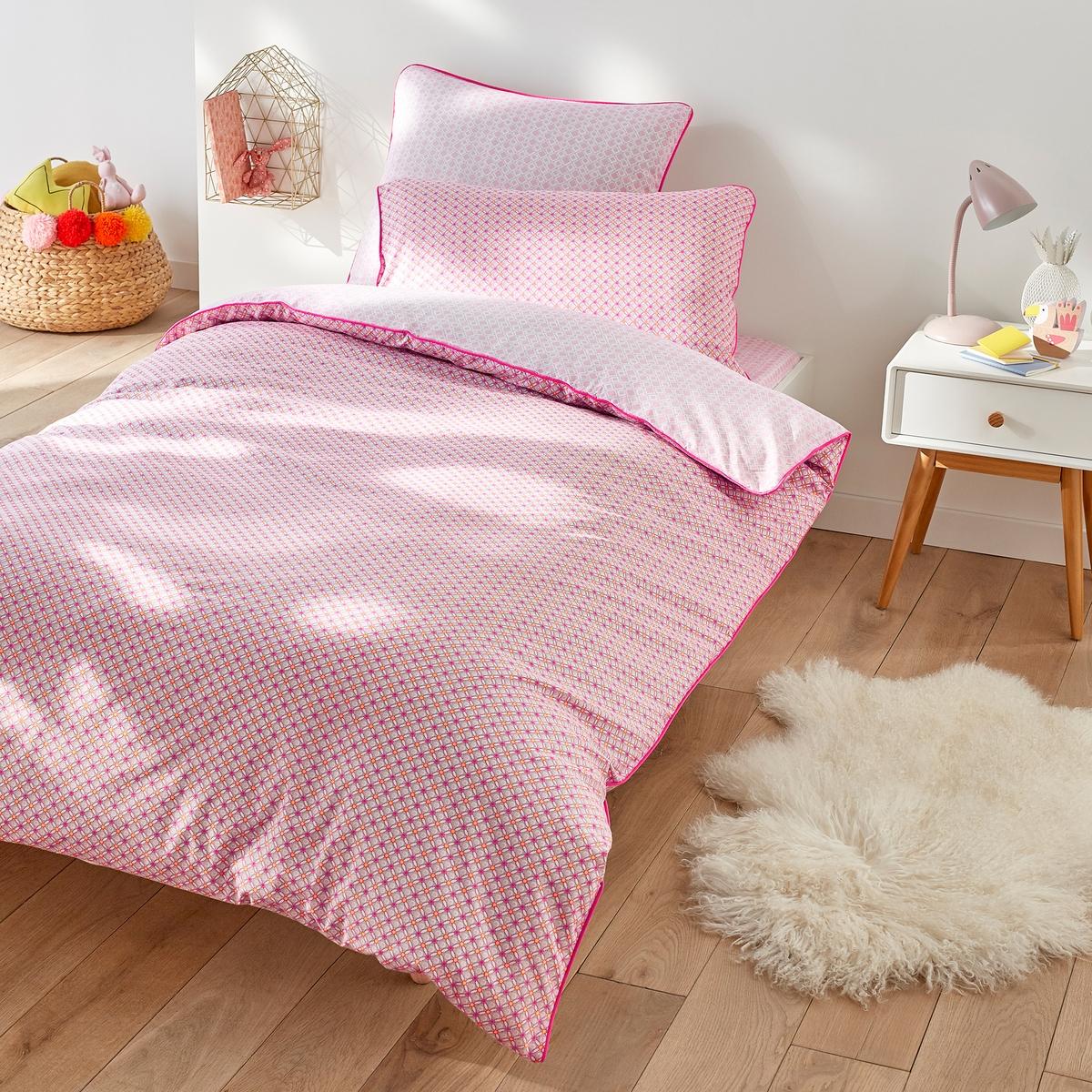 купить Пододеяльник La Redoute хлопка Lioubia 200 x 200 см розовый онлайн