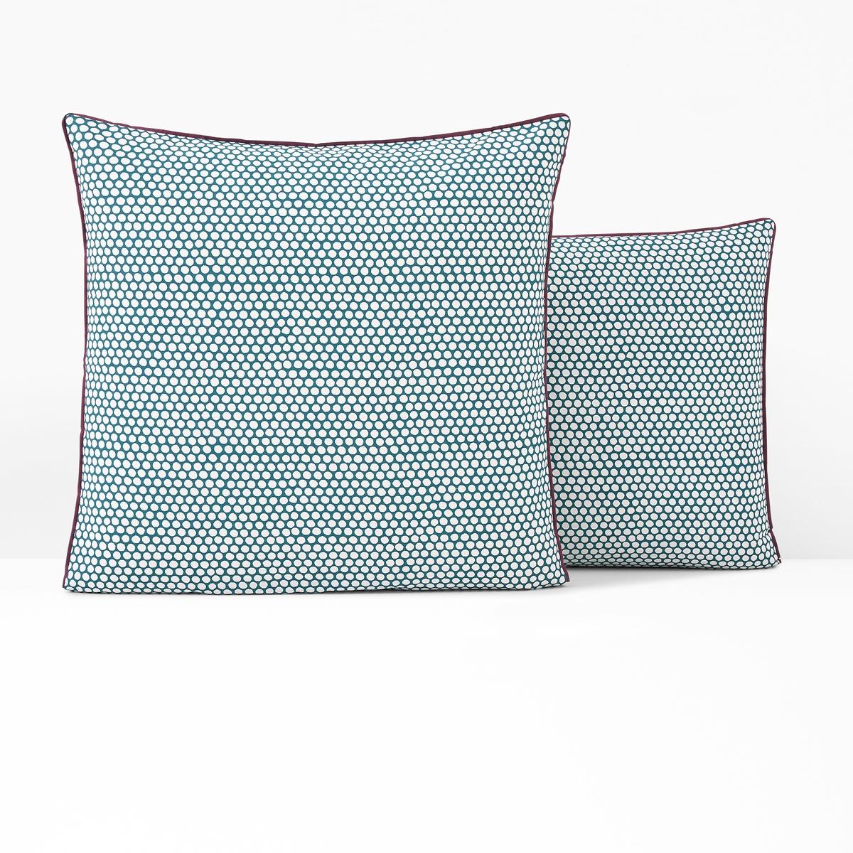 Наволочка La Redoute На подушку или подушку-валик из перкали DUO 85 x 185 см синий простыня la redoute натяжная из перкали grues 90 x 190 см синий