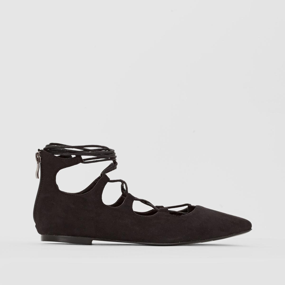 Балетки на шнуровке гили